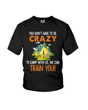 CAMPING TRAIN YOU Youth T-Shirt thumbnail