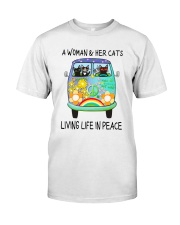 WOMAN CAT PEACE Classic T-Shirt front