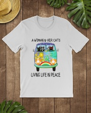 WOMAN CAT PEACE Classic T-Shirt lifestyle-mens-crewneck-front-18