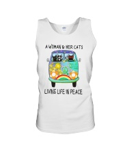WOMAN CAT PEACE Unisex Tank thumbnail