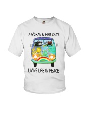 WOMAN CAT PEACE Youth T-Shirt thumbnail