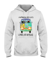 WOMAN CAT PEACE Hooded Sweatshirt thumbnail