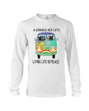 WOMAN CAT PEACE Long Sleeve Tee thumbnail