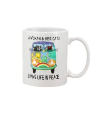 WOMAN CAT PEACE Mug thumbnail