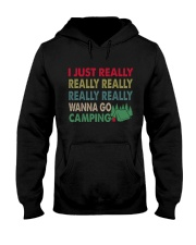 REALLY WANNA CAMPING Hooded Sweatshirt thumbnail