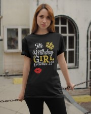 OCTOBER BIRTHDAY GIRL Classic T-Shirt apparel-classic-tshirt-lifestyle-19