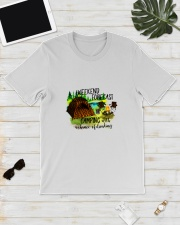CAMPING WEEKEND FORECAST Classic T-Shirt lifestyle-mens-crewneck-front-17
