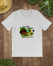 CAMPING WEEKEND FORECAST Classic T-Shirt lifestyle-mens-crewneck-front-18