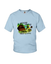 CAMPING WEEKEND FORECAST Youth T-Shirt thumbnail