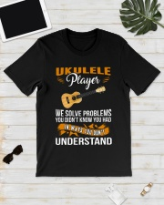 UKULELE PLAYER SOLVE PROBLEMS Classic T-Shirt lifestyle-mens-crewneck-front-17