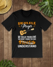 UKULELE PLAYER SOLVE PROBLEMS Classic T-Shirt lifestyle-mens-crewneck-front-18