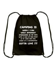 CAMPING IS Drawstring Bag thumbnail