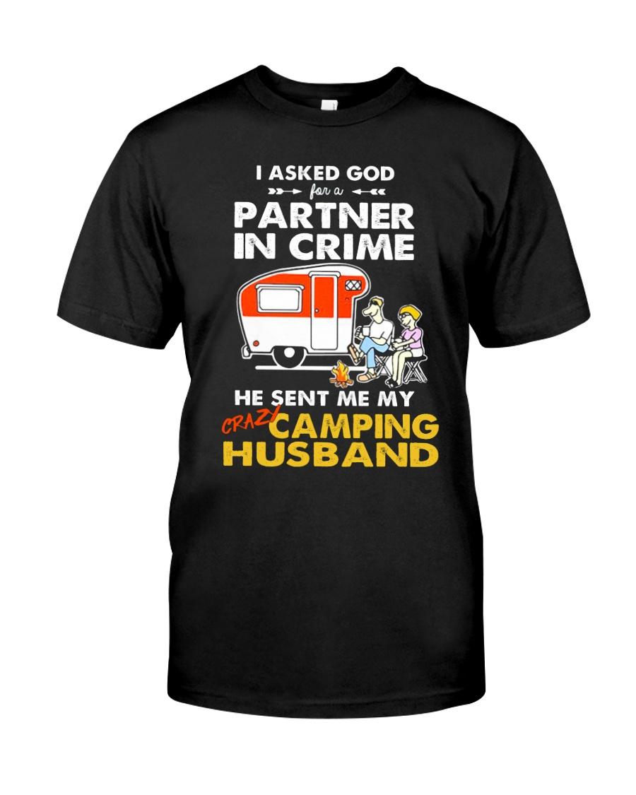CRIME CAMPING HUSBAND Classic T-Shirt