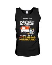 CRIME CAMPING HUSBAND Unisex Tank thumbnail