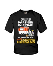 CRIME CAMPING HUSBAND Youth T-Shirt thumbnail