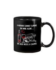 WINE ALONE CAMPER Mug thumbnail