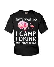I CAMP I DRINK Youth T-Shirt thumbnail