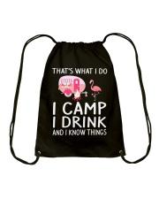 I CAMP I DRINK Drawstring Bag thumbnail