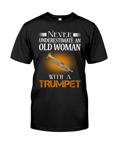 OLD WOMAN WITH A TRUMPET