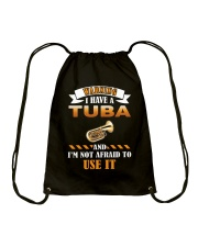 WARNING I HAVE A TUBA Drawstring Bag thumbnail