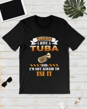WARNING I HAVE A TUBA Classic T-Shirt lifestyle-mens-crewneck-front-17