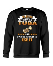 WARNING I HAVE A TUBA Crewneck Sweatshirt thumbnail