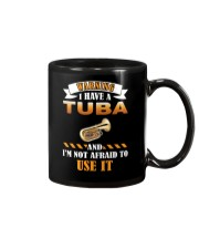 WARNING I HAVE A TUBA Mug tile
