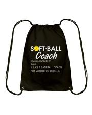 SOFTBALL COACH LIKE Drawstring Bag thumbnail