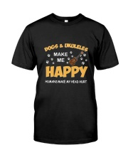 DOGS UKULELES HAPPY Classic T-Shirt front