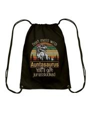 DON'T MESS WITH AUNTASAURUS Drawstring Bag thumbnail