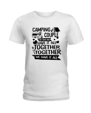 CAMPING COUPLE Ladies T-Shirt front