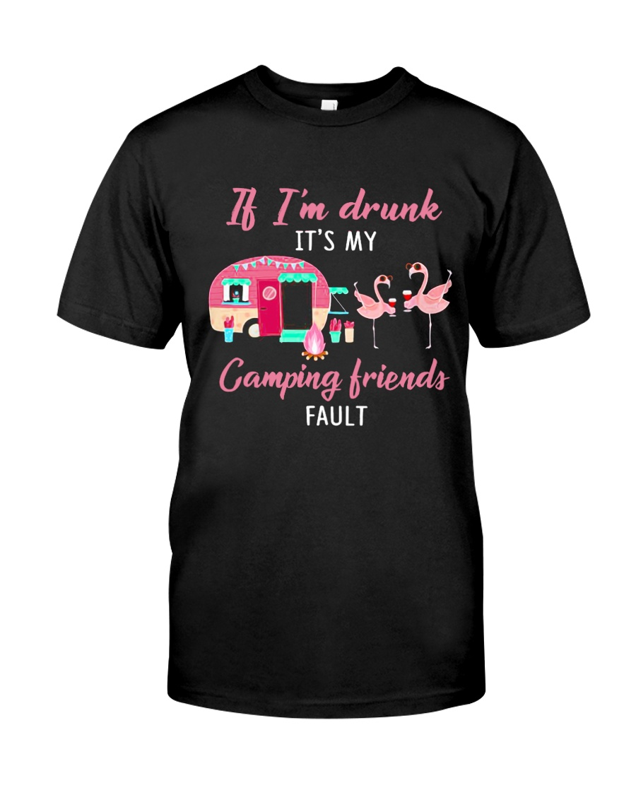 FLAMINGO CAMPING FRIENDS Classic T-Shirt