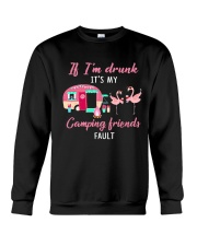 FLAMINGO CAMPING FRIENDS Crewneck Sweatshirt tile