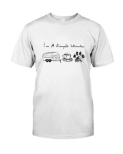 CAMPING COFFEE DOG Classic T-Shirt front