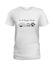 CAMPING COFFEE DOG Ladies T-Shirt thumbnail