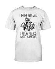 DRINK BEER CAMPING Classic T-Shirt thumbnail