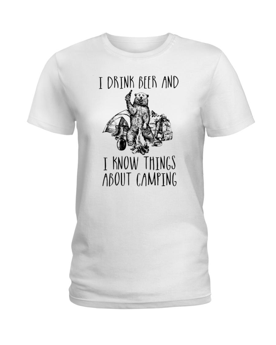 DRINK BEER CAMPING Ladies T-Shirt