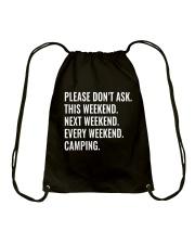 CAMPING WEEKEND Drawstring Bag thumbnail