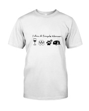 WOMAN CAMPING SIMPLE Classic T-Shirt front