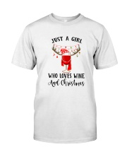 GIRL WINE CHRISTMAS Classic T-Shirt front