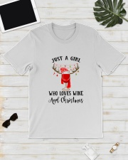 GIRL WINE CHRISTMAS Classic T-Shirt lifestyle-mens-crewneck-front-17