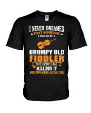 GRUMPY OLD FIDDLER V-Neck T-Shirt thumbnail