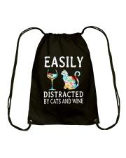 WINE AND CAT Drawstring Bag thumbnail