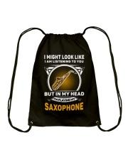 IN MY HEART SAXOPHONE Drawstring Bag thumbnail