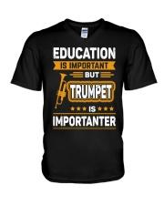EDUCATION TRUMPET V-Neck T-Shirt thumbnail