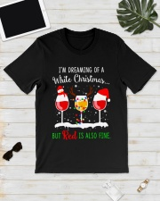 WHITE WINE CHRISTMAS Classic T-Shirt lifestyle-mens-crewneck-front-17
