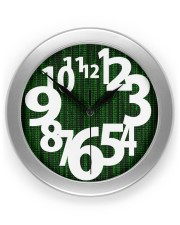 Awesome artistic numbers on Matrix background  Wall Clock front