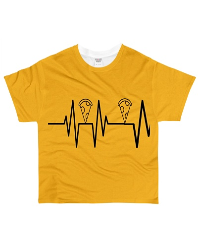 Heartbeat Shirt Pizza i just want Pizza on back