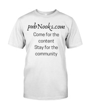 pubNooks is coming Classic T-Shirt front