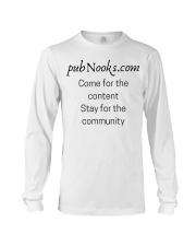 pubNooks is coming Long Sleeve Tee thumbnail